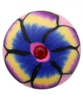 Drukknoop met bloem 1 8 cm trend