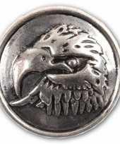 Drukknoop met een arend zilver 1 8 cm trend