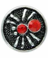 Drukknoop rood spinnetje voor chunk sieraad 1 8 cm trend