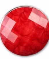 Drukknoop rood voor chunk sieraad 1 8 cm trend