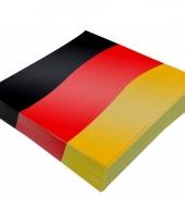 Duitse vlag servetjes 20 stuks trend