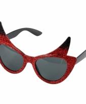 Duivel zonnebril met glitters trend