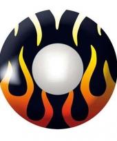 Duivelse feestlenzen zwart met vlammen trend