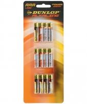 Dunlop alkaline batterijen aaa 12 stuks trend