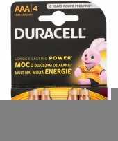 Duracell 4 stuks aaa batterijen trend