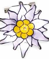 Edelweiss bloem speld met lichtje trend
