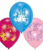 Eenhoorn thema ballonnen 12x stuks trend