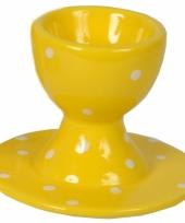 Eierdop geel 9 cm trend