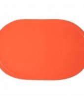 Ek decoratie oranje placemats trend
