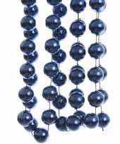 Elegant christmas kerstversiering sterren grove kralen ketting blauw 270 cm trend