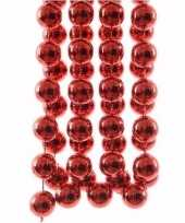 Elegant christmas kerstversiering sterren grove kralen ketting rood 270 cm trend