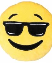 Emoticon kussen cool 30 cm trend