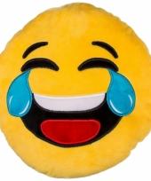 Emoticon kussen lachend 30 cm trend