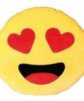 Emoticon kussen verliefd 50 cm trend