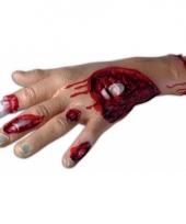 Enge halloween decoratie bloederige hand trend