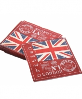 Engeland servetten 20 stuks 33 x 33 cm trend