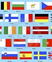 Europese landen vlaggen pakket trend