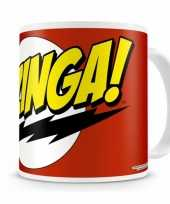 Fan koffiemok the big bang theory bazinga trend