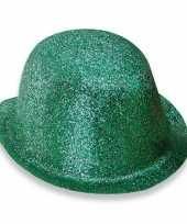 Feest bolhoed met groene glitters trend