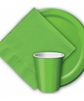 Feest borden groen 23 cm trend