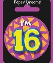 Feest button 16 jaar trend