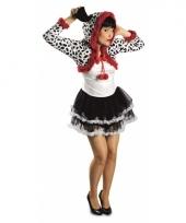 Feest dalmatier hond verkleedoutfit voor dames trend