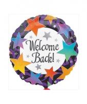 Feest folie ballon welcome back 46 cm trend