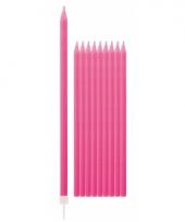 Feest kaarsen fuchsia roze 10x trend
