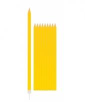 Feest kaarsen geel 10x trend 10065155
