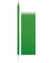 Feest kaarsen groen 10x trend