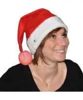 Feest kerstmuts met verlicht bolletje trend