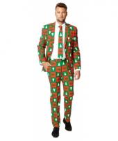 Feest kostuum kerstbomen print trend