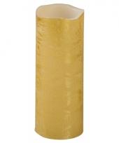 Feest led kaars goud 20 cm trend