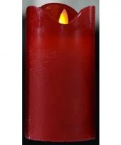 Feest led kaars rood 12 cm trend 10073769
