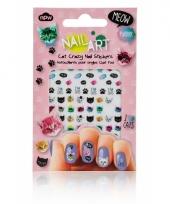 Feest nagel sticker pakket poesjes trend