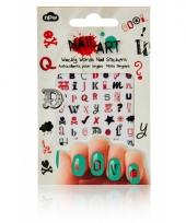 Feest nagel sticker pakket woorden trend
