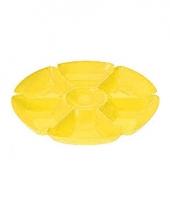 Feest serveerbord geel 7 vakken trend