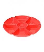 Feest serveerbord rood 7 vakken trend