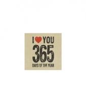 Feest servetten valentijn thema 365 days trend