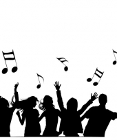 Feest thema muziek muursticker trend
