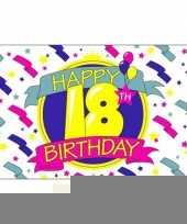 Feest vlag 18 jaar trend