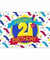Feest vlag happy birthday 21 jaar trend