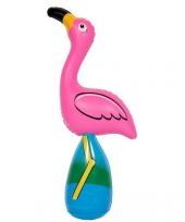 Feestartikel roze opblaasbare flamingo trend