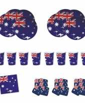 Feestartikelen australie tafel versiering pakket trend