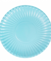 Feestartikelen borden lichtblauw 10 stuks trend