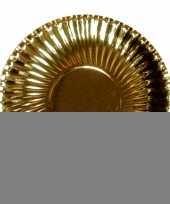 Feestartikelen borden metallic goud 10 stuks trend