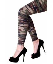 Feestartikelen camouflage print legging trend