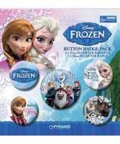 Feestartikelen frozen buttons 5 stuks trend