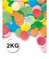 Feestartikelen luxe confetti 2 kilo multicolor trend