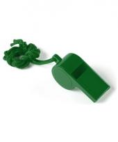 Feestartikelen plastic groen fluitje trend
